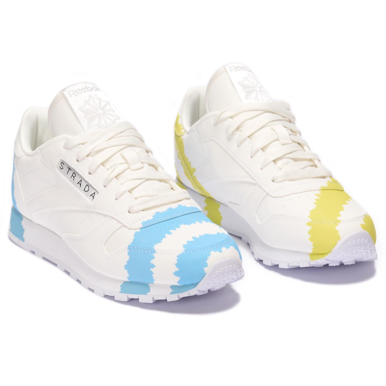 Reebok CL x Collina Strada Ftwr White / Digital Blue / Acid Yellow