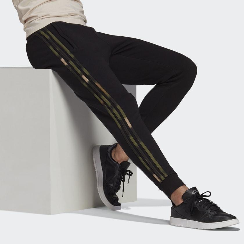 adidas Originals CAMO STRIPES SWEAT Black / Wild Pine / Multicolor PANTS