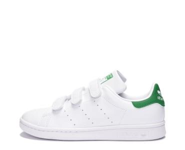 adidas Originals STAN SMITH. Cloud White / Cloud White / Green