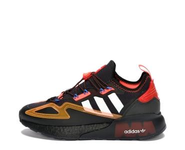 adidas Originals ZX 2K Boost Safety Core Black/Silver Metallic/Solar Red