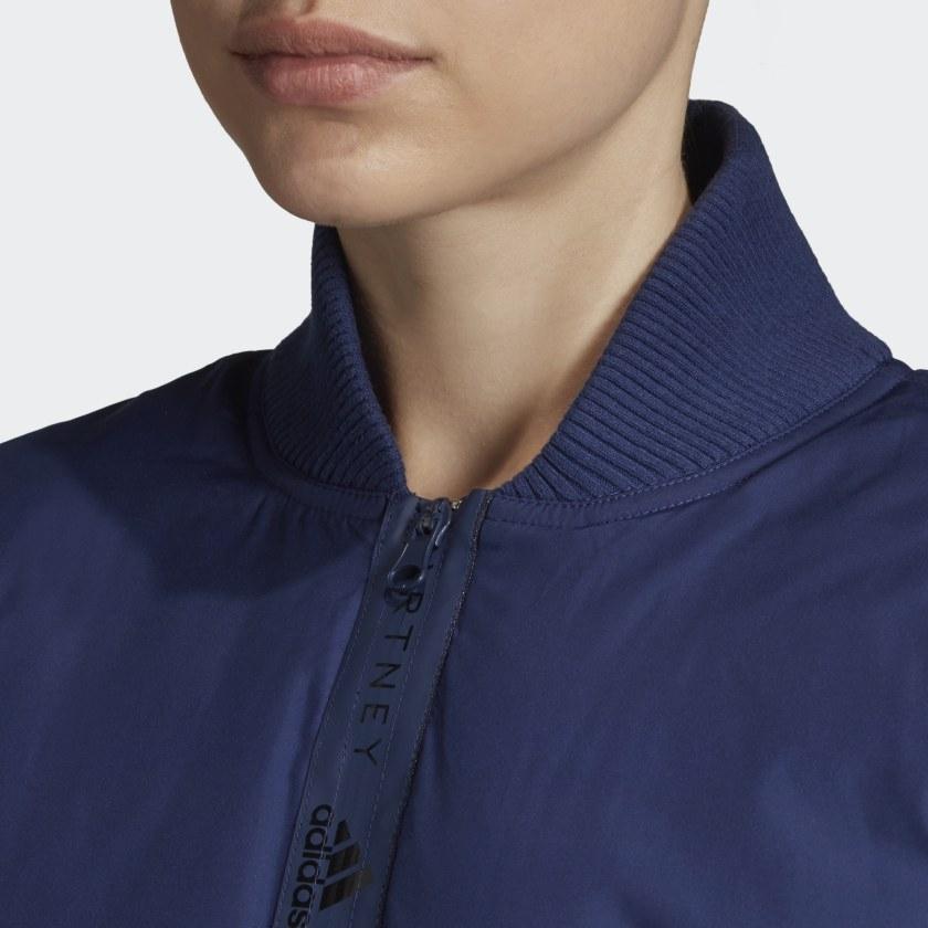 adidas by Stella McCartney ATHLETICS PADDED BOMBER JACKET Dark Blue
