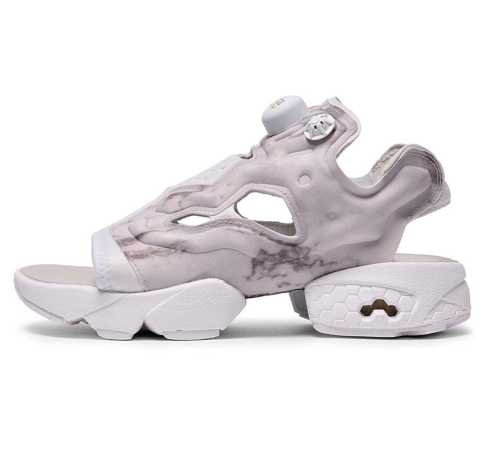 3643a8eb103b3f Reebok Instapump Fury Sandals Steel White