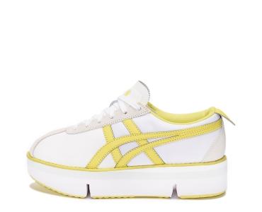 onitsuka tiger Pokkuri Sneaker Platform WHITE/SOUR YUZU